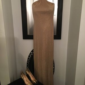 Gold metallic gown